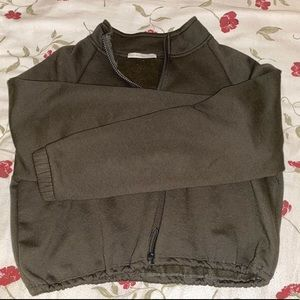 Cropped zip up pullover